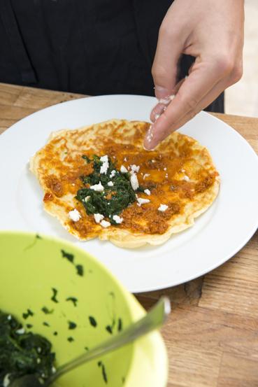 Eierkuchen mit Feta
