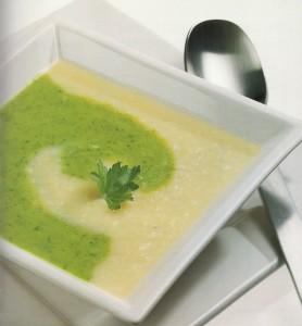 Petersiliencreme grün weiß